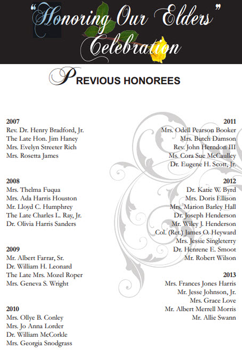 Through The Years - The Honorees